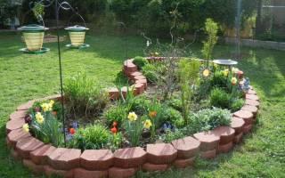 Клумбы в саду фото