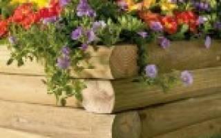 Преимущества и недостатки деревянной клумбы